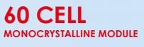 60 cell monocrystalline module