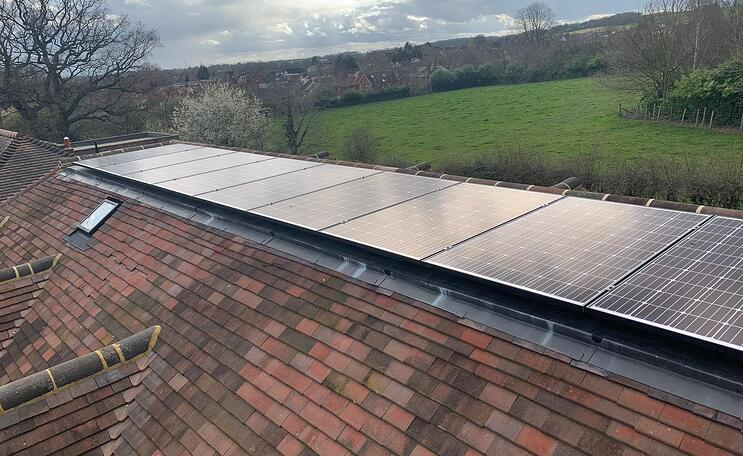 domestic flat roof solar panels