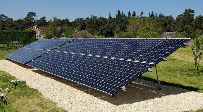 domestic ground mounted solar panels