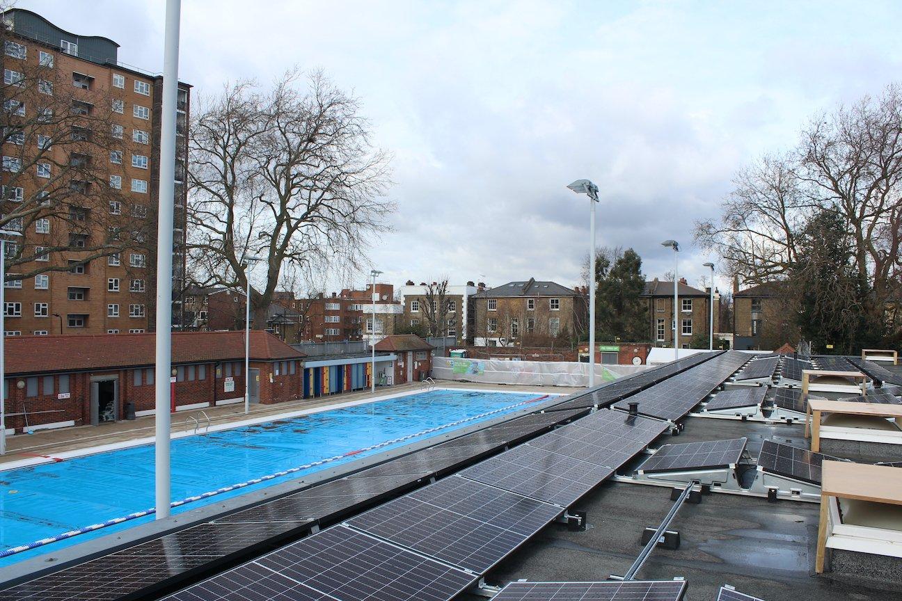 London Fields Lido solar