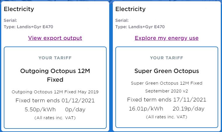 Octopus Tariffs