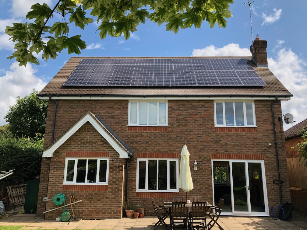 Oxted solar panels