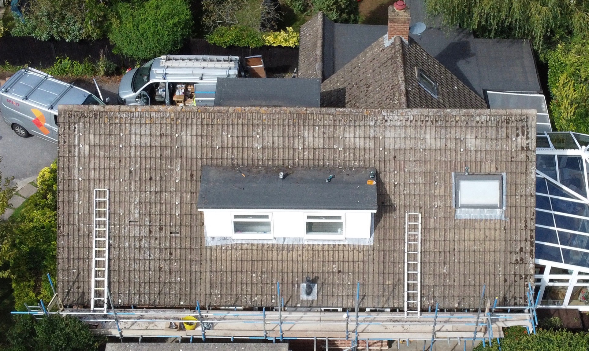 Pre install roof