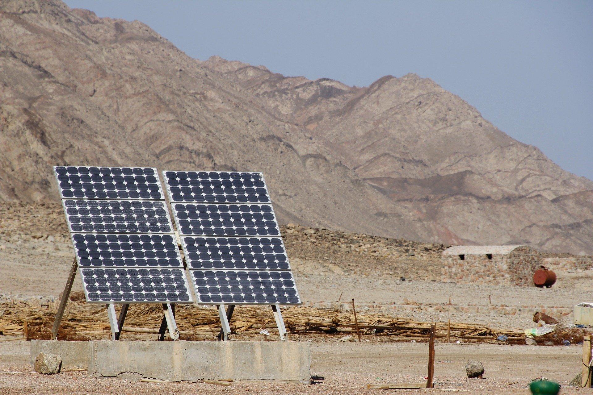 Solar PV in desert