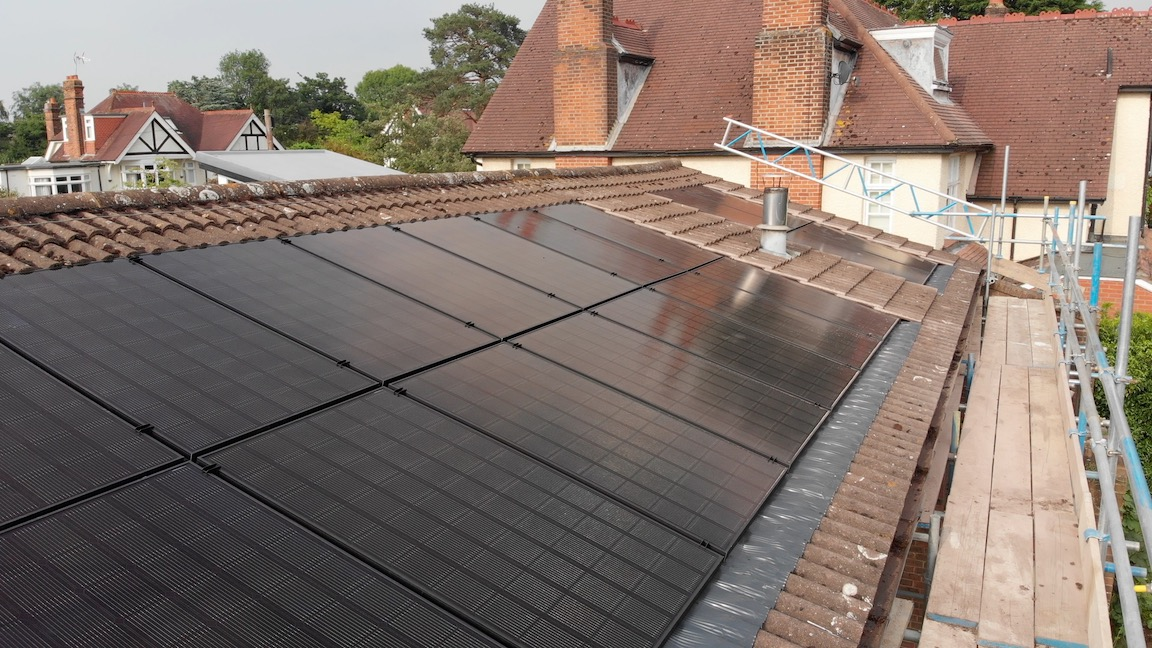 Solar panels drone 3