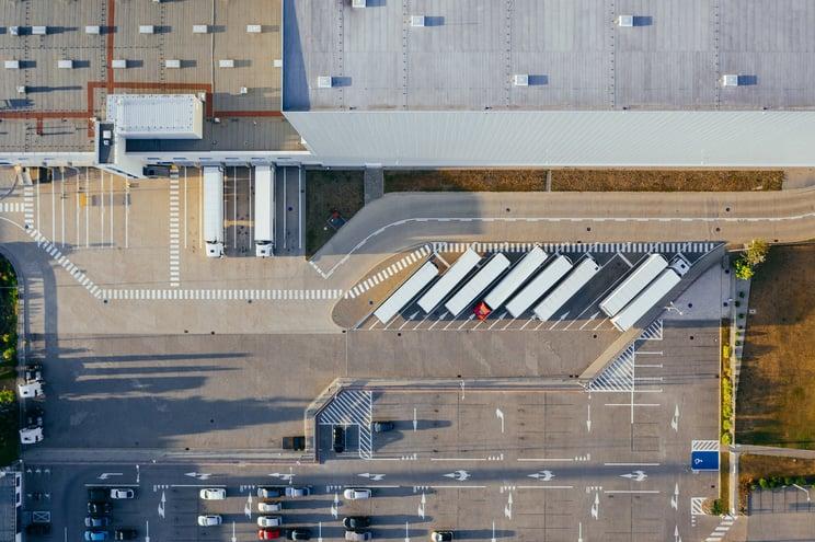 warehouse solar panels