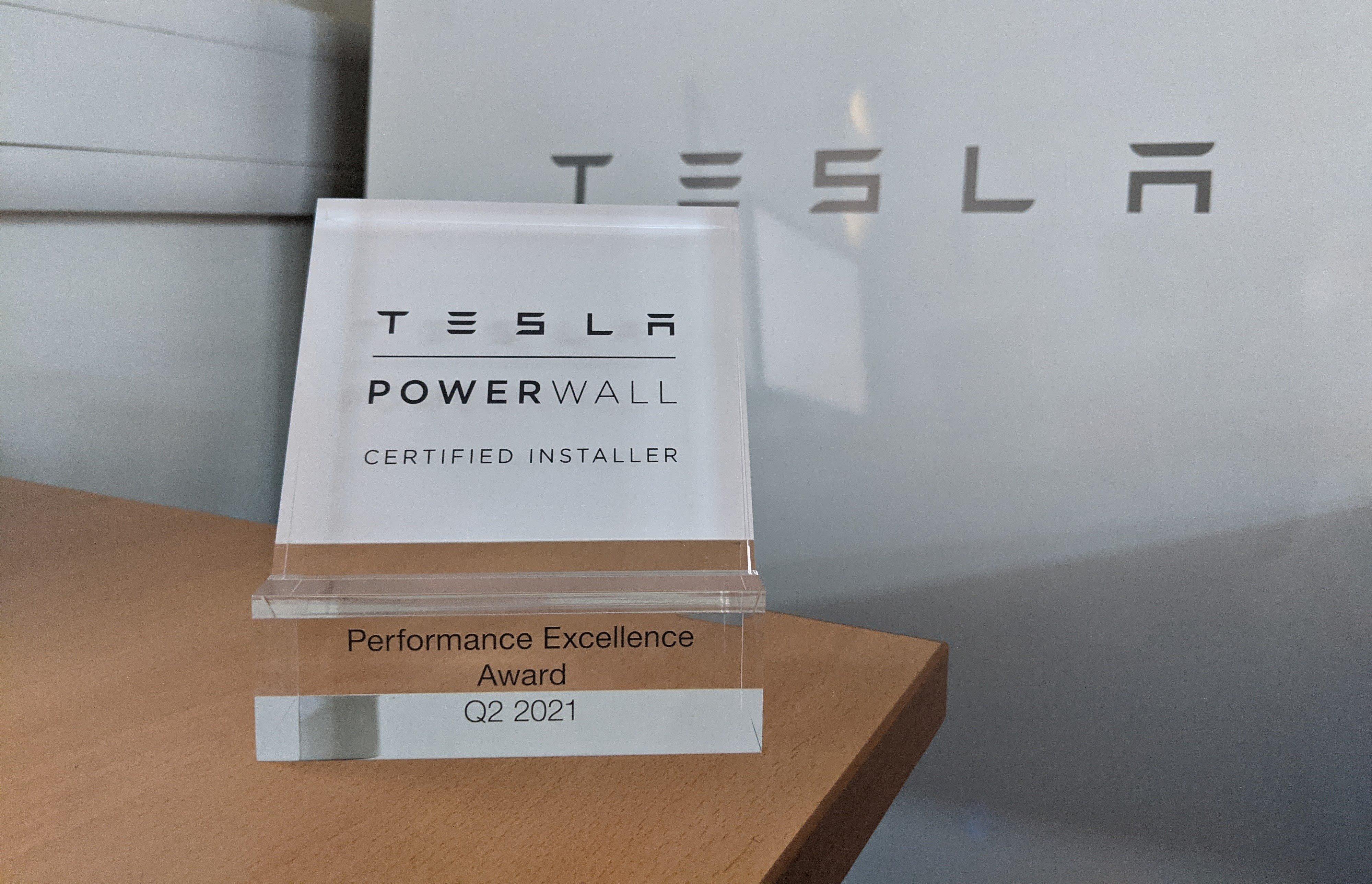 Tesla installer award