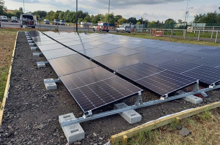 van der valk ground mounted solar panels