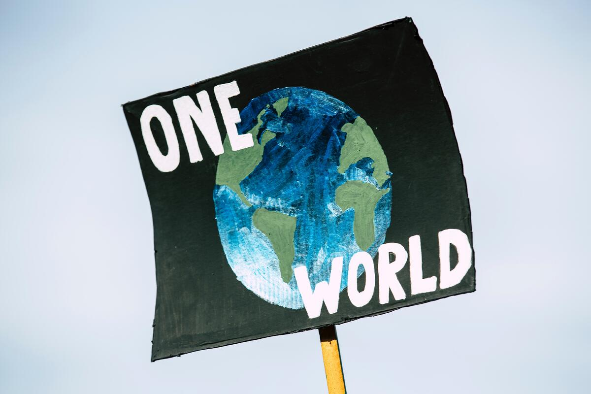 climate action placard