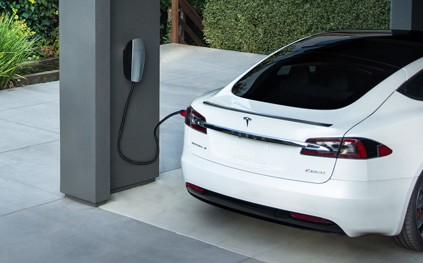 tesla wall connector charging