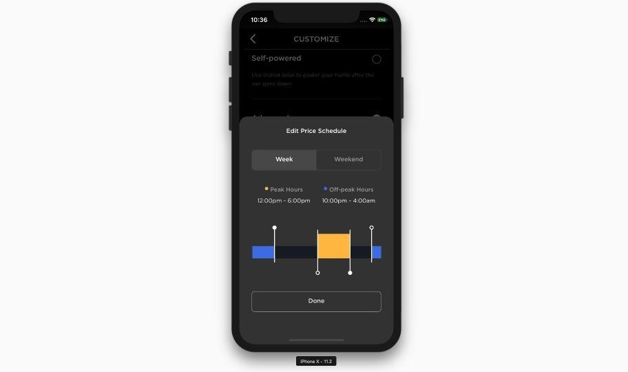 Tesla App Price Schedule